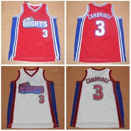 Wholesale Los Angeles Knights Cambridge Jersey Men Cinema Hollywood Movie Basketball Jerseys College Team Color Red White With