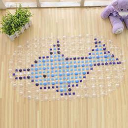 Wholesale Bathroom Carpet Pad PVC Mat Shower Tub Bathing Cobblestone Floor Rug Pebble Bubble Non Slip Safety Practical Bath Mat