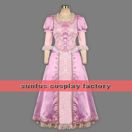 La réalisation de films à vendre-Halloween Movie Tangled Rapunzel princesse Costume Cosplay robe sur mesure