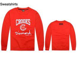 2018 new Fashion Brand Crooks and Castles sweatshirts Men's Diamond sweat shirts Street Skateboard sweatshirts free shipping