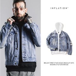 Wholesale MA1 INFLATION Denim Jacket Men With Hole Fashion Streetwear Jaqueta Jeans Masculina Mens Jackets And Coats Oversize Kanye West