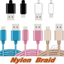 High Speed 1M 2M 3M 6ft 10ft Metal Housing Braided Micro USB Cable Durable Tinning Charging USB Type C Cable for S7 S8 Android Smart Phone