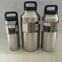 Eaux fraîches en Ligne-18oz 36oz 64oz Yeti Bouteilles d'eau Bilayer Acier inoxydable Isolation Cooler Cup YETI Tasses Car Beer Mug with logo Livraison gratuite