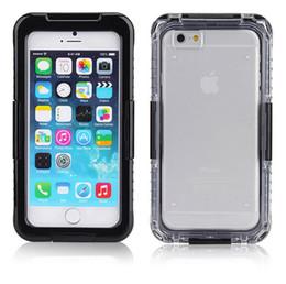 Protection téléphone cellulaire en Ligne-Pour l'iPhone 7 plus imperméable Cell Phone Cover Étuis Shorkproof 2 en 1 Hybrid Water Snow Proof iPhone 6 6S Plus cas de protection