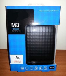 Wholesale NEW M3 quot USB3 External Hard Drive TB Black HDD Portable disk Hot sales
