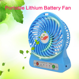 Wholesale F95B Portable Mini USB Fan Rechargeable Battery Operated LED Lamp for Indoor Outdoor Kids Table Mini Fan
