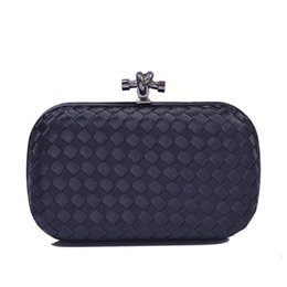 Promotion women formal clutch Vente en gros de dames de luxe Superstar marque de conception faite à la main en tricot embrayage sac de soirée de la mode des femmes en soirée sacs à main d'embrayage XB435