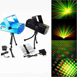 Promotion des vacances mini-lumières Hot Sale Holiday 50pcs lot Bleu Mini Laser Éclairage 150mW Mini GreenRed LED Laser DJ Party Éclairage Noir Disco Dance Floor Lights
