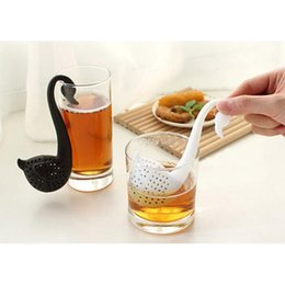 Lovely health Silicone Swan Spoon Colander Tea Herb Spice Strainer Infuser Teaspoon Filter Plastic Swan Shape Strainer Herba Infusers Fil