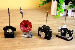Fast delivery 2017 New 10pcs Creative Decoration Retro Camera   recorder   sewing machine   phone Photo clip Place Card Holder