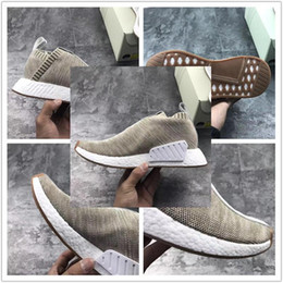 Dame ville à vendre-2017 Originals Running Shoes KITH X NAKED NMD_CS2 PK S.E. BY2597 Consortium NMD City Chaussette 2 Chaussures Tan Femme Souliers Femme Chaussures Homme