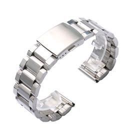 Promotion bar business Vente en gros-Nouvelle Haute Qualité en acier inoxydable 20 / 22MM Width bande Bracelet montre avec 2 barres de printemps pour les hommes d'affaires Montres