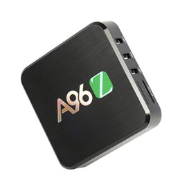 Amlogic android en Ligne-Android TV Box A96Z Android 6.0 2 Go + 16 Go Amlogic S905X Quad Core KD 16,1 Wifi Bluetooth 1080P Streaming 4K Media Player OTH038