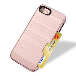 Wholesale Card Slot Wallet Hybrid Case For iPhone s plus Plus LG X Power Alcatel Stellar Fierce Huawei P9Lite P8 ZTE Zmax Pro Z981