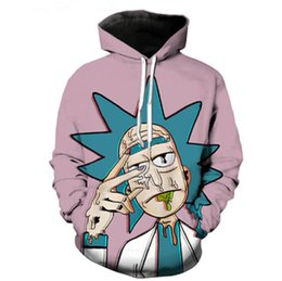 Classic Cartoon Rick and Morty 3d Hoodies Funny Crazy Scientist Rick Print Men Women Streetwear Hoodie Sweatshirt