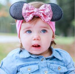 2017 bébé props accessoires pour la photographie 9 Coloris 2016 Enfant Cartoon Bow Bandeaux Girl Headwear Enfants Bébé Photographie Props Nouveau-né Sequins Accessoires pour cheveux Baby Cheveux bandes Fj14 bébé props accessoires pour la photographie ventes