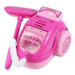 Wholesale Mini Simulation vacuum cleaner toy for kid classic electric furniture toy the best gift for children Pink