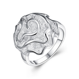 Fashion Jewelry 925 Silver Rose Women's Rings Finger Rings Size 6,7,8,9,10 Hot Mixed Size