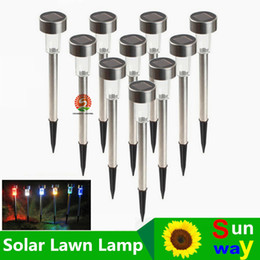 Wholesale Best Solar Lamps Solar LED Light Multicolor Stainless Steel Solar Lawn Lights Led Garden Light Decoration Outdoor Street Lamps Waterproof