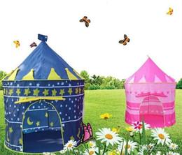 Cabrito casa tienda de campaña en Línea-Príncipe y Princesa Teepee Kids Play Tents Niños jugando Indoor Indoor Toy Tent Game House Dos colores