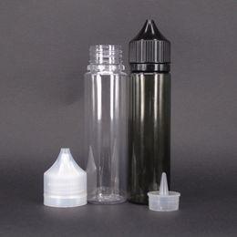 Refillable perfume bottle unicorn eliquid dropper transparent clear pet squeeze in stock 60ml 120ml chubby bottle ejuice dropper bottle