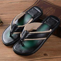 Wholesale Flip Flop Men Fashion Beach Shoes Mens Slipper Rubber Sole Sandalias Masculina Plus Size PVC Summer Beach Men Sandals