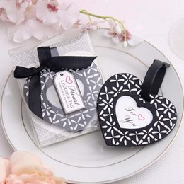 "New arrival Factory directly sale Wedding favor ""Follow your heart"" luggage tag Heart-shaped multi-purpose luggage tag"