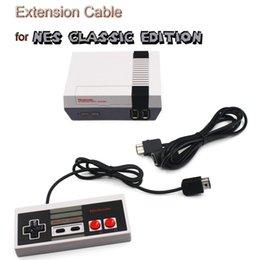Descuento extensión del controlador Venta al por mayor-5.9 pies 1.8Meter NES Classic Edition Controlador Extensive Cable Mini NES Extend Link Extension Cable Cord