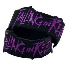 Wholesale 50PCS Lot Falling In Reverse Silicone Wristband 1 Inch Wide Bracelet Perfect Gift for Music Fans