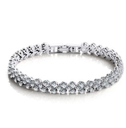 925 sterling silver crystal jewelry charm bracelets swarovski elements Rhinestone chain fashion vintage wedding top quality