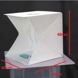 Promotion photo boîte de tente Photo Studio Flash Diffuseurs Mini Photo Portable Kit Light Box Softbox Photographique avec Toile de fond 400 * 400 * 400mm photo lumière tente