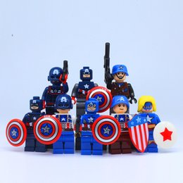 2017 New 8pcs lot The Marvel Avengers Super Heroes Captain America Assemble Blocks Model Kids Toys As Festival Birthday Gift Present