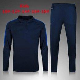 Wholesale 2016 black new kits soccer tracksuit Survetement kids Cavani JOSE VERRATTI Maillot de Foot Training Maillot Tracksuit pants