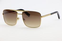Square frame Silver fashion Sunglasses 0259 elegant Comfortable Men Women's General glasses Gradient gray lenses Anti-UV400