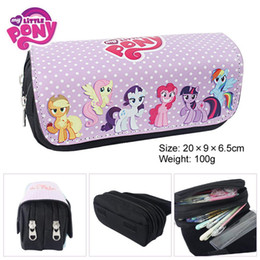 Canada Vente en gros - 2016 Nouvelle vente 5 Super Cute Cartoon Rainbow pour Poney School Office Pu Grande capacité Crayon Papeterie Sacs Boutique de filles large school bags sale on sale Offre