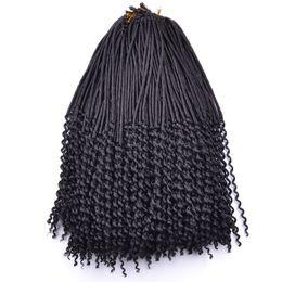 Descuento rastas tejen 20 inch Crochet Kanekalon fibra Dreadlocks pelo afro moda sintética crochet trenzar pelo rizado falsos Locs tejiendo 24roots / lot