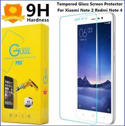 Wholesale Pour Xiaomi Note Protecteur d écran en verre trempé Redmi X Note Note3 Note4 Inde X D mm H Diligence Explosion Shatter Package
