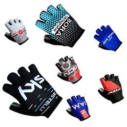 Wholesale 2017 quick step New cas bora sky fox iam gcn Cycling Gloves racing MTB TEAM gloves Bike bicycles gloves with Gel pads