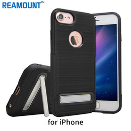 Colorful Brushed Kickstand Soft TPU Phone Case Cover for iphone 7 7plus for iphone 6 6 plus Mobile Phone Case Cover