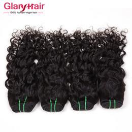 Promotion cheveux ondulés tisse pour les femmes noires Extension brésilienne des cheveux vierges de la vierge 8A Grade des extensions brésiliennes de cheveux ondulés pour les femmes noires Bangs des ondes naturelles Cheveux humains Weave 6 ps