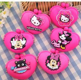Promotion mickey bourse Nouveaux sacs à main de mode Mini Purse 2017 Kawaii Minnie Mickey Pouch Femmes Petits Portefeuille Soft Sac à monnaie en silicone Kids