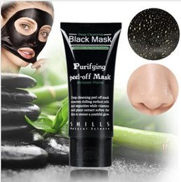 Wholesale SHILLS Deep Cleansing Black Mask Pore Cleaner ml Purifying Peel off Mask Blackhead Facial Mask Free DHL