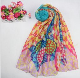 Wholesale Vintage Voile Scarf Women Spring Summer Scarves Floral Print Female Shawl Wrap Muslim Hijabs Factory Cost scarf SS