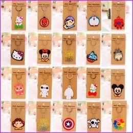 Cartoon Anime Silicone PVC Cute Hello Kitty Owl keychain Fashion Keychain Key Chain Ring Holder Christmas Gifts