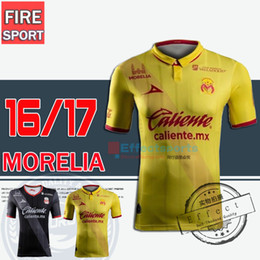 Wholesale 2016 Top Quality Monarcas Morelia soccer Jerseys Morelia home away third Yellow red black Mexico club Morelia football shirts
