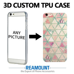 3D DIY Cusstom Relief Printing Soft TPU Shell Phone Case for Iphone 7 7plus Creative Transparent Mobile Phone Case