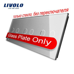 Livolo Luxury Grey Pearl Crystal Glass For DIY Switch,223mm*80mm, EU standard, Triple Glass Panel,VL-C7-C2 C2 C2-15