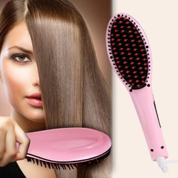 FAST Hair Straightener brush Straight Styling Tool Flat Iron Electronic Temperature Control US AU EU UK Plug