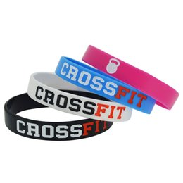 50pcs lot CROSS FIT CrossFit Wristband Geat Fitness silicone wristband bracelet