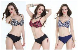 Trending Sexy Bikini Push Up Swimwear Set Print Bathing Suits Big Chest Beach Wear Plus Size Swimsuit Femme 2017 Traje De Bano